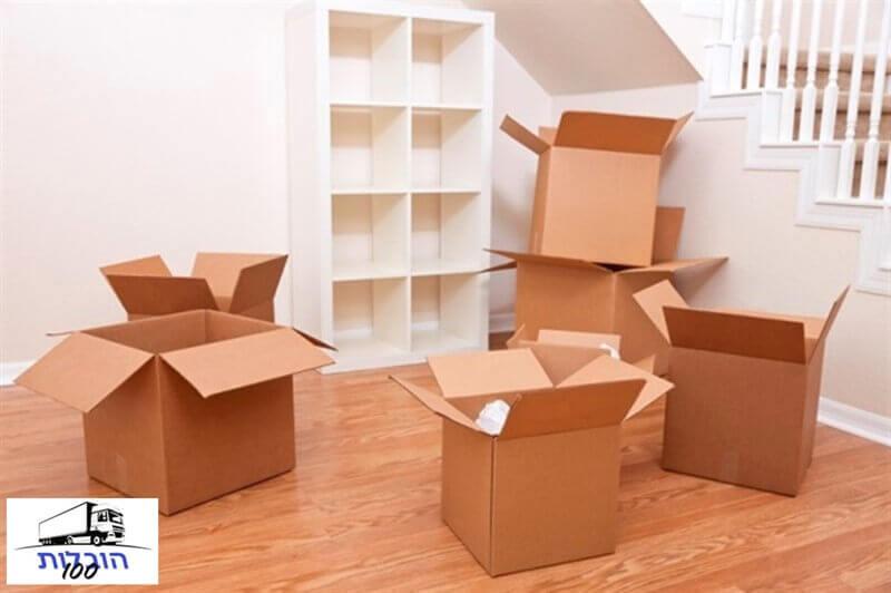 הובלת קרטונים כולל פריקה וסידור בדירה